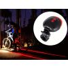 Lézeres nyomsáv jelző hátsó kerékpár világítás - Biztonságban az utakon!