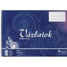 VICTORIA Vázlatfüzet, félfamentes, B4, spirál, 32 lap, VIC füzet