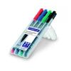 STAEDTLER Alkoholos marker készlet, OHP, 0,6 mm, STAEDTLER