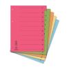DONAU Regiszter, karton, A4, mikroperforált, DONAU, veg