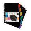 VIQUEL Regiszter, műanyag, A4 Maxi, 6 részes, VIQUEL , f