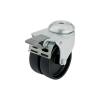 Blickle 276394 Dupla terelő görgő készülékhez, 50 mm átmérővel, hátsó furattal, és rögzítő fékkel Kivitel Dupla görgő hátsó furattal és rögzítő fékkel