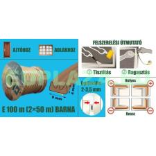 Ablakszigetelő, ajtószigetelő, öntapadó tömítőprofil, E, barna, 9 x 4 mm x 100 m barkácsolás, csiszolás, rögzítés