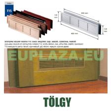 Szellőzőrács, ajtóhoz, T15k110, műanyag, tölgy, 460 x 135 mm barkácsolás, csiszolás, rögzítés