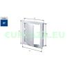 Szerelőajtó, DT17, ellenőrző ajtó, műanyag, fehér, 450 x 450 mm