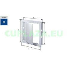 Szerelőajtó, DT17, ellenőrző ajtó, műanyag, fehér, 450 x 450 mm barkácsolás, csiszolás, rögzítés