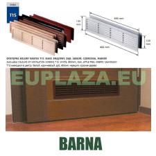Szellőzőrács, ajtóhoz, T15K50, műanyag, barna, 460 x 135 mm barkácsolás, csiszolás, rögzítés