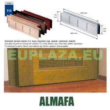 Szellőzőrács, ajtóhoz, T15k111, műanyag, almafa, 460 x 135 mm barkácsolás, csiszolás, rögzítés