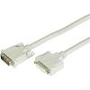 DVI TV, Monitor hosszabbító kábel 1x - 1x 4.50 m Fekete