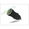 USB Dual micro szivargyújtó töltő adapter - 5V/1A+2,1A - fekete