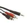 Gembird audio kábel Jack 3.5mm apa / 2x RCA (CINCH) apa  2.5m