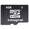Integral MICRO SDHC 4GB CLASS4 - WITHOUT SD ADAPTER
