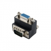 4world Adapter VGA [M] > VGA [F]; right angled; fekete