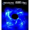 Revoltec Dark Blue ventilátor  120x120x25mm   4 db LED  kék