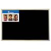 VICTORIA Krétás tábla, fekete felület, nem mágneses, 60x90