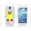 Haffner Samsung i9500 Galaxy S4 szilikon hátlap - 3D pinguin - fehér