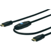 Digitus HDMI TV, Monitor csatlakozókábel 1x - 1x 40 m Fekete Digitus