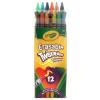 Crayola Crayola: 12 db radírvégű csavarható színes ceruza