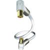 Koax antennakábel könyökdugókkal 75 Ω fehér 5 m Inakustik