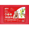 APLI Moosgumi 400x600 mm, APLI Eva Sheets, piros csillámos pöttyös (LCA13558)