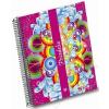 Unipapel Spirálfüzet, A5, kockás, 120 lap, UNIPAPEL, Psicodelia, vegyes szín (U930513)
