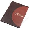 PANTA PLAST Étlaptartó, A4, bőr hatású, PANTA PLAST Félkör, barna-világos barna (INP3175019)