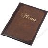 PANTA PLAST Étlaptartó, A4, bőr hatású,  PANTA PLAST Keretes , barna-sötét barna (INP3172711)