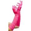 pink , hosszú szaténkesztyű