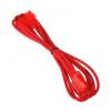 Bitfenix Molex hosszabbító 45cm - sleeved piros/piros