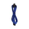 Bitfenix 6-Pin PCIe hosszabbító 45cm - sleeved kék/fekete