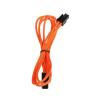 Bitfenix 4-Pin ATX12V hosszabbító 45cm - sleeved narancs/fekete
