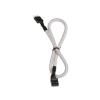 Bitfenix internal Audio hosszabbító 30cm - sleeved fehér/fekete
