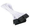 Bitfenix 24-Pin ATX hosszabbító 30cm - sleeved fehér/fekete modding
