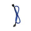 Bitfenix internal Audio hosszabbító 30cm - sleeved kék/fekete