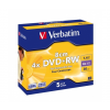 Verbatim MINI 8CM DVD+RW 1,4GB 4X JEWEL CASE*5 43565