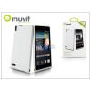 Muvit Huawei Ascend P6 hátlap - Muvit miniGel Glazy - white