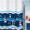 Spirella 10.16736 Clipperi zuhanyfüggöny 180X200 kék/piros