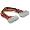 DELOCK alaplapi hoszabbító kábel ATX 24pin male -> 24pin female 22cm (82989)