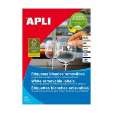 APLI APLI uni. 64,6x33,8mm kerekített 2400db/cs | Eltávolítható etikettek etikett