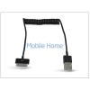 Haffner Apple iPhone 3G/3GS/4/4S/iPad/iPad2/iPad3 USB adat- és töltőkábel spirál vezetékkel - fekete