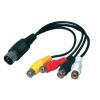 Valueline DIN dugó - 4x RCA aljzat átalakító kábel 20cm