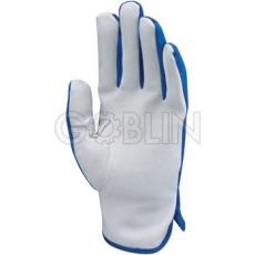 Euro Protection Sofõrkesztyû, puha színsertés, kék nylon kézhát csuklógumival