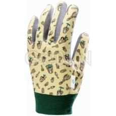 Euro Protection Mikroszálas szürke poliamid tenyér, mintás pamut/Spandex kézhát és mandzsetta