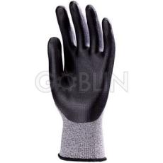 Euro Protection Euro4 vágás- és kopásálló Dyneema®/pa kesztyû, nitril-poliuretán fekete bipolimer...