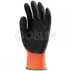Euro Protection Fluo narancs poliamid kesztyû, erõs, fekete, érdesített latex, csúszásbiztos tenyérrel