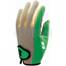Euro Protection Vinyllel impregnált pamut tenyér PVC pöttyökkel, rugalmas Spandex kézhát, tépõzáras csukló