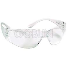 Lux Optical® Pokelux védõszemüveg, 2,4 mm vastag, ívelt polikarbonát, víztiszta, karc- és páramentes