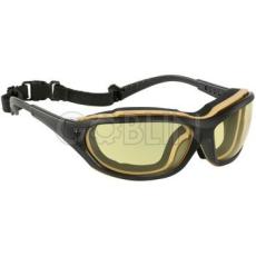 Lux Optical® Madlux védõszemüveg, fekete/sárga mobil keret, sárga páramentes lencse