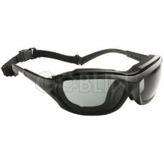 Lux Optical® Madlux védõszemüveg, fekete mobil keret, színezett füstszürke, páramentes lencse