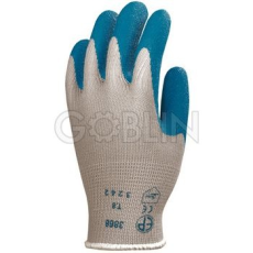 Euro Protection Kondenzált, vékony és erõs, csúszásbiztos kék latex kesztyû kötött, szellõzõ pamut...